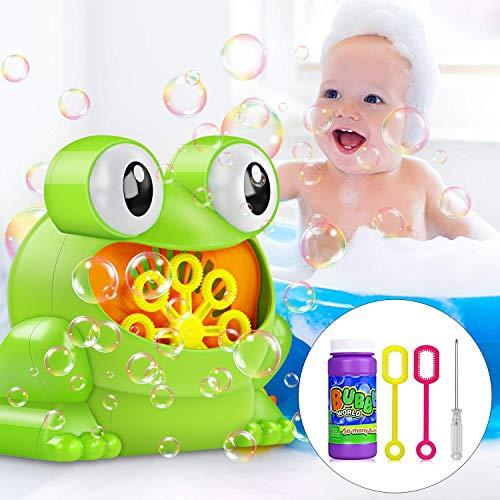 Máquina de Burbujas, Maquina Pompas de Jabon, Portátil Máquina de Burbujas Haga más de 500 Burbujas por Minuto, Adecuado para niños Fiesta de cumpleaños, Navidad, Bodas, Reuniones Familiares