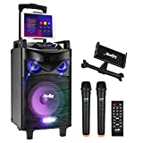 Bluetooth Sonorisation Portable Moukey Karaoké Speaker Haut-parleurs 160W...