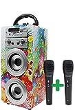DYNASONIC - Enceinte Bluetooth Portable karaoké 10W, Microphonè inclu,...