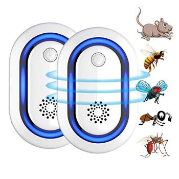 Répulsif Ultrason Souris, Anti Rongeurs Insectes Anti Moustiques, Changement Automatique Fréquence Electrique Appareil Répulsif Souris Interieur (Bleu)