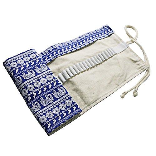 Fablcrew - Astuccio porta-matite arrotolabile in tela, per artisti, scuola e ufficio 50 * 21 cm 36 Holes
