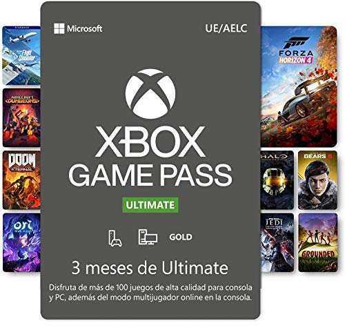 Suscripción Xbox Game Pass Ultimate - 3 Meses | Xbox/Win 10 PC - Código de descarga