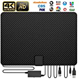 [Updated 2020 Version] Amplified HD Digital TV Antenna Long 120+ Miles Range with Powerful HDTV Signal Booster Support 4K 1080p Fire TV Stick and All Older TV's Indoor - Macromolecule Performance