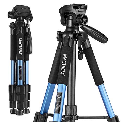 MACTREM M-PT55-Bk PT55 Travel Camera Tripod Lightweight Aluminum...
