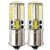 Ba15s Lot de 2 ampoules LED P21 W 12 V 1156 1141 5 W Blanc froid 6000 K SMD...
