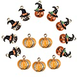 LANBEIDE 15PCS Assorted Charms Wholesale Mixed Halloween Alloy Charms Pendants for Jewelry Making and Crafting DIY Necklace Bracelet Earrings