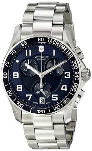 Victorinox Men's 241493 Chrono Classic Analog Display Swiss Quartz Black Watch