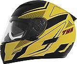 THH Helmets TS-80 Adult Street Motorcycle Helmet - FXX Yellow/Black/Medium