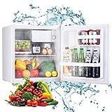 TECCPO Mini Réfrigérateur à Porte Réversible, 46L, 7 Réglages de Température, 37 dB, pour...