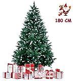 amzdeal Árbol de Navidad 180cm, Árbol de Navidad Artificial con Soporte Metálico para Decoración Navideña de Material PVC