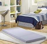 Beautyrest Siesta Memory Foam Mattress: Roll-Up Guest Bed/Floor Mat, 3' Single