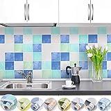 iKINLO Papier Peint de carrelage Auto-adhésif Cuisine Carrelage Murs Salle Bains...