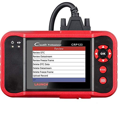 LAUNCH CRP123 OBD2 Scanner Engine/ABS/SRS/Transmission Automotive Code Reader Diagnostic Scan Tool (Red)