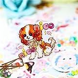 TTBH Dibujos Animados Lindo Perro Animal Pegatinas DIY Diario decoración Pegatinas álbum de Recortes Lindo papelería Bullet Diario Suministros 40 Uds