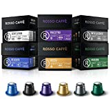 Rosso Coffee Capsules for Nespresso Original Machine - 60 Gourmet Espresso Pods Variety Pack, Compatible with Nespresso Original Line Machines
