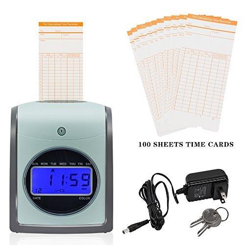 SELF Employee Time Clock Card Machine Include 100-Cards...