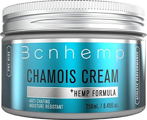 BCNHEMP Crema Badana Ciclismo 250ml - Antifriccion Antirozaduras Apta para Contacto con Zona íntima genital Femenina componentes Naturales con Aceite de cáñamo Chamois Cream cremas sin vaselina