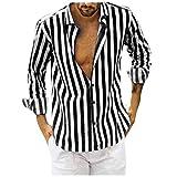 Chemise de ville à manches longues Slim Fit à rayures verticales pour hommes Vetement Marque Manche Longue chemises pas cher grande taille Tops Pullover Sweater Cardigan SweatShirt Hoodie