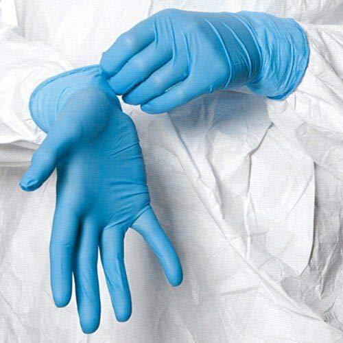100 Shield Nitrile Disposable Powder Free Gloves (Non Latex Vinyl Exam) Large