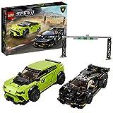 LEGO Speed Champions - Lamborghini Urus ST-X e Lamborghini Huracán Super Trofeo EVO con due Minifigure, Set di Costruzioni per Ragazzi +8 Anni, 76899