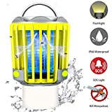 RUNACC Bug Zapper Camping Lantern LED Flashlight Bug Zapper - Portable IP66 Waterproof Outdoor Tent Light Camp Lamp with 2200mAh Rechargeable Battery, SOS Emergency Warning Lighting