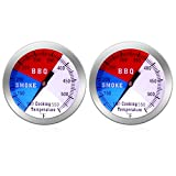 NEWSTART BBQ Thermometer Gauge - 2 Pcs Charcoal Grill Pit Smoker Temp Gauge Grill Thermometer with...