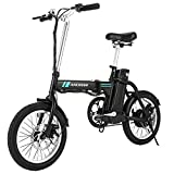 ANCHEER Folding Electric Commuter Bike, 16'' City Ebike with 8Ah Removable Lithium-Ion Battery Electric Bicycles