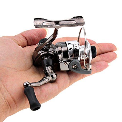 Origlam mini mulinelli da pesca spinning Reel 4.3: 1Gear metal design liscio e potente spinning mulinelli per pesca alla carpa Bass trota acqua dolce salata