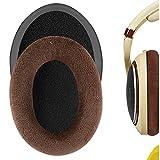 Geekria Comfort イヤーパッド 互換性 パッド Sennheiser HD598, HD598SE, HD598CS ヘッドホンに対応 イヤパッド/イヤークッション/イヤーカップ (ベロア/褐色)