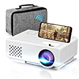 Oecrayy Mini WiFi Projector, Upgraded Portable Movie Projector Full HD 1080P Supported, Home Theater Projector Wireless Mirroring Synchronize Screen Video Projector for iOS/Android/TV Stick/PC