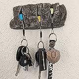 Funming Porte-clés rétro en résine imitation pierre - Décoration murale pour la maison, le salon, la chambre à coucher