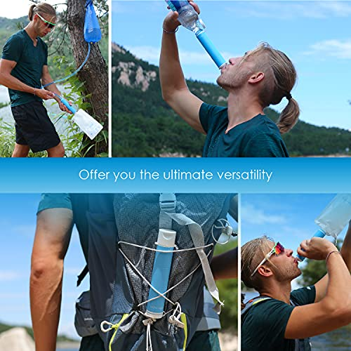 Product Image 5: Waterdrop Gravity Water Filter Straw, Portable Water Purifier Survival for Camping, Hiking, Backpacking and Emergency Preparedness, Green
