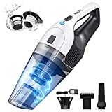 Holife Handheld Vacuum, Hand Vacuum Cordless with Powerful Cyclonic Suction, Handheld Vacuum Cordless Powered with Rechargeable Quick Charge Tech, Lightweight Dry Vac for Home and Car Cleaning (White)