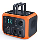 TACKLIFE P50 500Wh Portable Power Station Solar Ready Battery Generator with Pure Sine Wave AC Outlets Wireless Charging Pad for Outdoors Camping Power Outage Emergency