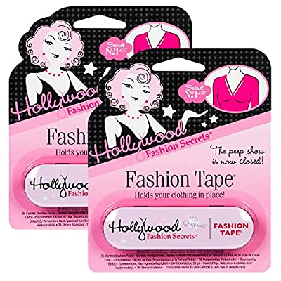 HYPOALLERGENIC, FABRIC-FRIENDLY FASHION TAPES: Hollywood Fashion Tapes are specially formulated adhesive that is gentle on skin, hypoallergenic, leaves no residue on your garments, and won't leave any imprints or red marks on your skin after use. Thi...