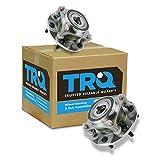 TRQ Front Wheel Hub Bearing Assembly Driver Passenger Pair for Tacoma 4Runner FJ