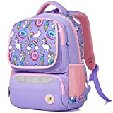 Spring Country Unicorn Kitty School Backpack for Girls & Boys, Large 16 Inches Casual Day Pack Cartoon Rucksack