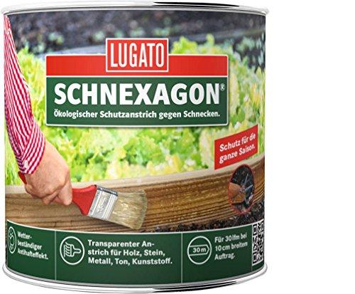 Lugato Schnexagon 375ml Ökologischer Schutzanstrich gegen Schnecken, Schneckenabwehr