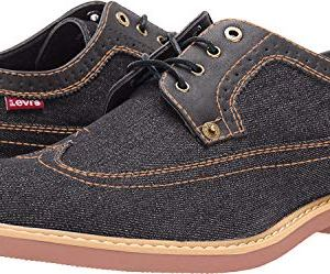 Levi's Mens Tindal Casual Denim Wingtip Oxford Shoe