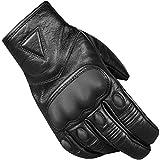 Men's Premium Leather Protective Cruiser Street Motorcycle Biker Gel Gloves XL