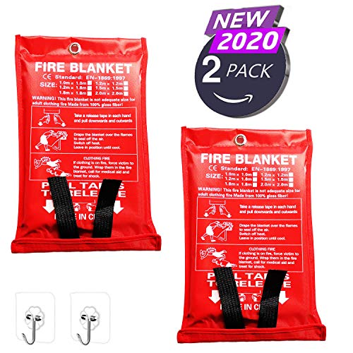 Yakalla 39.3X 39.3 inch Fire Blanket Fiberglass Fire Emergency Blanket, Emergency...