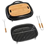 Activa Pick Nick Grill Box 2020 Negro Pick-Nick-Grill Box Campinggrill Holzkohlegrill Tischgrill pequeña Grill