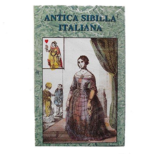 Oráculo Antica Sibilla Italiana, Mazo de 32 Cartas de Adivinación en Idioma Italiano