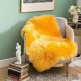 MIULEE Luxury Super Soft Fluffy Area Rug Faux Fur Rectangle Rug Decorative Plush Shaggy Carpet for Bedside Sofa Floor Nursery 2 x 3 Feet, Yellow