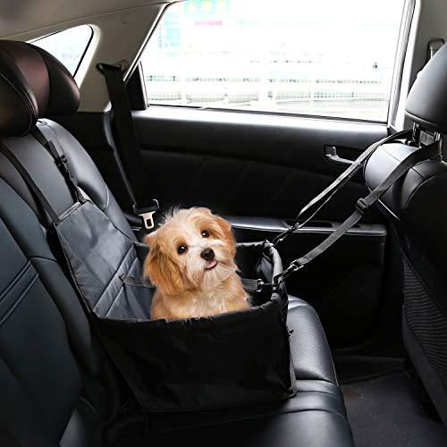 IvyLife Auto-Hundesitz für Kleine Hunde oder Katzen, Transporttasche verstellbar aus Oxford-Stoff Wasserdicht Atmungsaktiv Haustier Sicherheit Auto Sitz Doppelt Schicht Verdickt Haustier