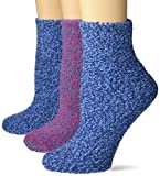 Dr. Scholl's Women's 3 Pack Soothing Spa Low Cut Lavender + Vitamin E Socks with Silicone Treads, Blue, Pink, Blue, Shoe Size: 4-10 (DSW22160L3U4001)