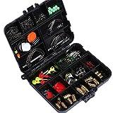 Goture Assortiment d'accessoires pour pêche à la carpe Boîte avec hameçons,...
