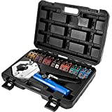Mophorn Hydraulic Hose Crimper Hydra-Krimp 71500,Manual AC Hose Crimper Kit Air Conditioning Repaire Handheld,Hydraulic Hose Crimping Tool with 7 Die Set, for Barbed and Beaded Hose Fittings
