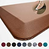 Anti Fatigue Comfort Floor Mat by Sky Mats -Commercial Grade Quality Perfect for Standup Desks, Kitchens, and Garages - Relieves Foot, Knee, and Back Pain (20x39x3/4-Inch, Chocolate Brown)