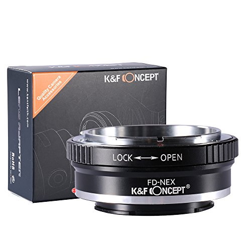 K&F Concept マウントアダプター Canon FDレンズ- Sony Alpha NEX Eカメラ装着用レンズアダプターリング Sony Alpha NEX-7 NEX-6 NEX-5N NEX-5 NEX-C3 NEX-3カメラ専用